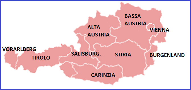 CARTINA DELL'AUSTRIA